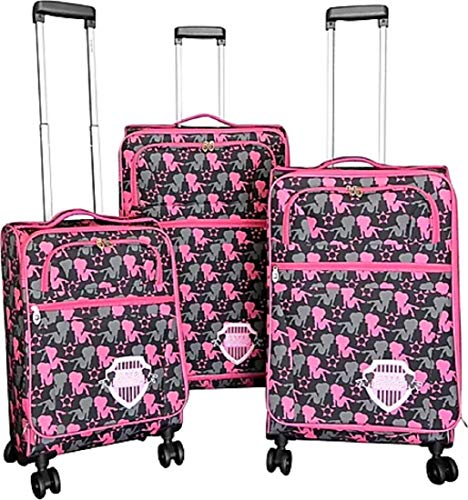Betty Boop Black & Pink 3-piece Expandable Spinner Luggage Set - BN001613#DD22