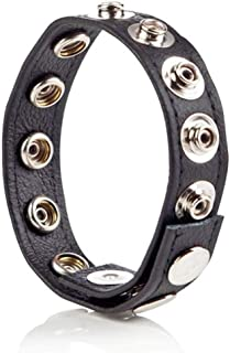 Male Adjustable 8 Snap Fastener Leather Strap Ring Object1440
