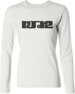 Tommery Women's RJD2 Logo Long Sleeve Cotton T Shirt