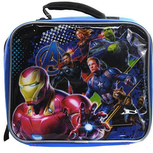 Marvel Avengers Soft Insulated Lunch Box (Blue/Black)