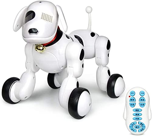 ZDY Smart Roboter Hund Wireless Fernbedienung Elektronischer Haustier,Walking Interaktiver,Tanzt Musik,Educational Lernen,Geburtstagsgeschenk Für Kinder-24  18.5  19cm 9.5  7.3  7.5 Inches,Weiß