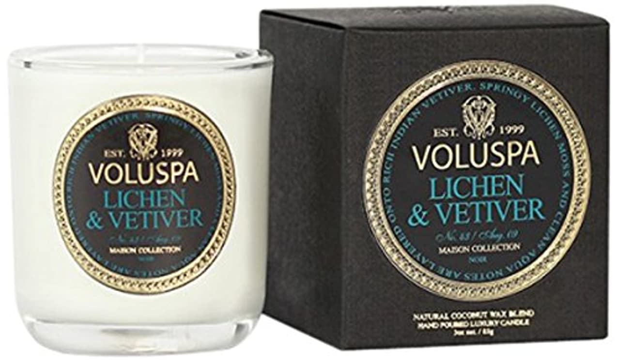 幸運なことに勃起つまらないVoluspa ボルスパ メゾンノワール ミニグラスキャンドル ライケン&ベチバー MAISON NOIR Mini Glass Candle LICHEN & VETIVER