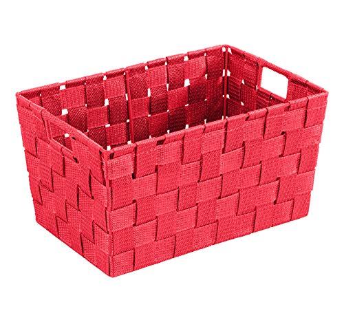 WENKO Aufbewahrungskorb Adria S Rot Füllkörbchen Wäschebox Ablage spielzeugbox