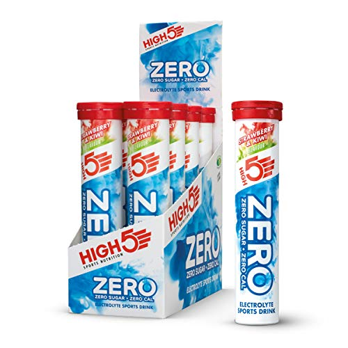 HIGH5 Zero Electrolyte Hydration Tablets Added Vitamin C (Strawberry & Kiwi, 20 Count (Pack of 8))