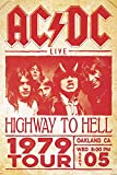 AC/DC Poster Live Highway to Hell Tour 1979 (61cm x 91,5cm)