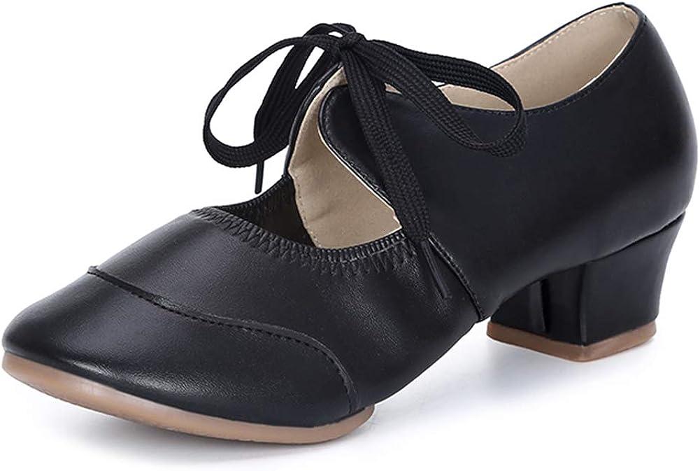 HIPPOSEUS Women's Latin Dance Practice Shoes Split Sole Ballroom