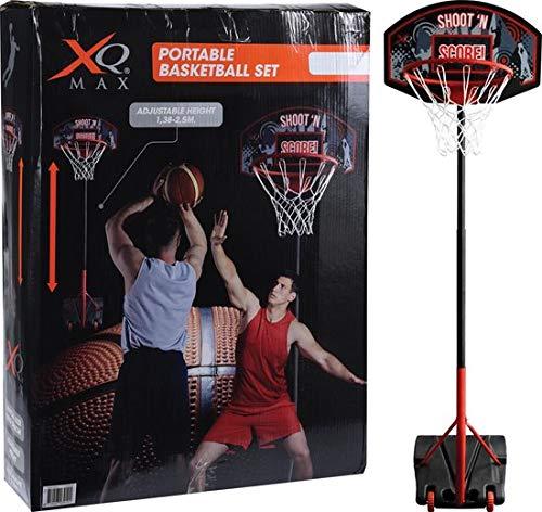 XQmax Tragbarer Basketballkorb-Ständer - Höhenverstellbar 138-250cm