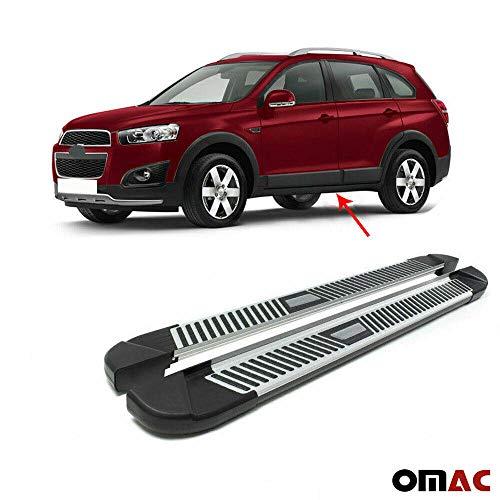 Trittbretter Seitenschweller Aerodynamik Funktional Aluminium Schwarz Sunrise Neu Pyramid Kompatibel mit Chevrolet Captiva 2016-2021