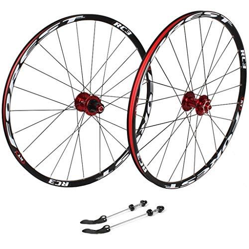 zyy 27.5inch Ciclismo Ruedas, Bicicletas híbrido de Doble Pared de BTT llanta de liberación rápida V-Brake/Orificio del Disco 7 8 9 10 100 mm Velocidad (Color : C, Size : 27.5inch)