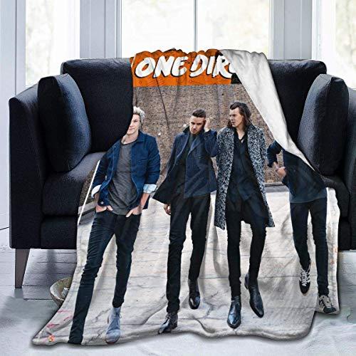 One Direction Manta de invierno ultra suave de micro forro polar a la moda ligera para sofá y cama de 152 x 150 cm