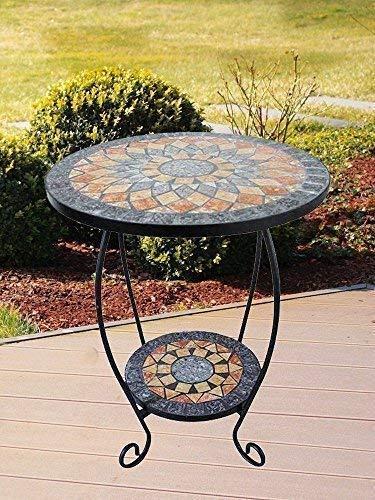 linoows Blumentisch Blumenständer Sardena, Mosaik Tisch im Mediterrane Stil