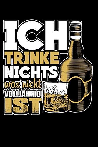 Nur Volljähriges: Notizbuch / Notizheft für Whiskey Whisky Scottish Single Malt Whisky-Trinker Trink-Spruch Party A5 (6x9in) liniert mit Linien