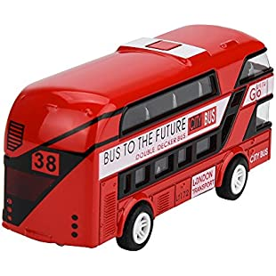 Xshuai ® Pull Back Inertia Bus Collection Model Double-decker Bus Alloy Die Cast City Bus Toy Best Gifts For Kid (Random)