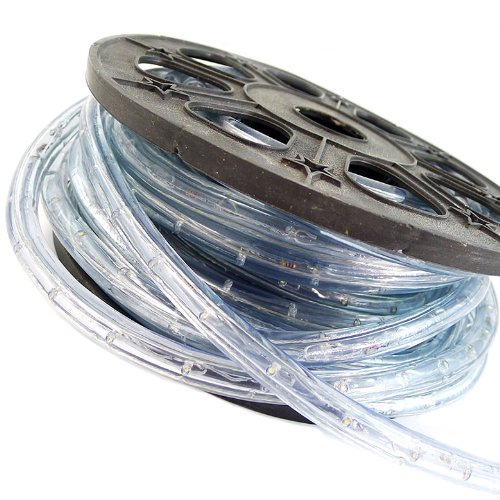 ARKSEN Flexible 50' LED Crystal Clear PVC Tubing Rope Kit, (Warm White)
