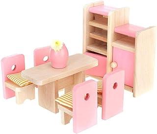 Ensembles De Salle À Manger Dollhouse, Mini-salle À Manger Accessoires Modèle Accessoires De Poupée Mobilier Set Table Cha...