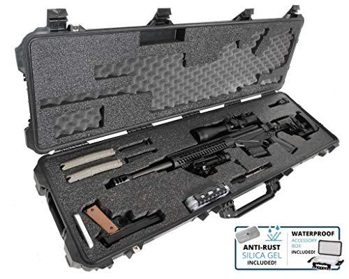 Case Club Precision Rifle Pre-Cut Waterproof Case with Accessory Box & Silica Gel to Help Prevent Gun Rust (Gen 2)