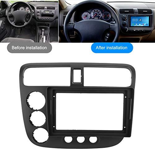 Fascia estéreo, fascia GPS, marco de navegación, 9 pulgadas para Civic 02-05 LHD Honda fácil de instalar