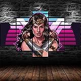 lcyab 5 Arte De Pared Impreso En Lienzopóster De Wonder Woman 1984 Artwork Hero Póster-Dos...