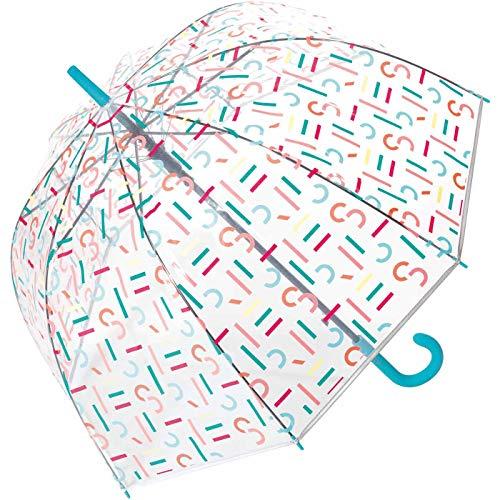 Esprit AC Domeshape Letterjam Regenschirm