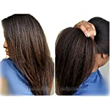 NLW Italian Yaki Lace Front Human Hair Wigs for Black Women Brazilian Remy Hair Glueless Lace Wig with Baby Hair 18inches