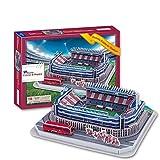 EP-model Levante Unión Deportiva Estadio Vicente Calderón Modelo de Estadio Deportivo, Modelo de Rompecabezas de Fútbol 3D, Ventiladores Souvenir DIY Toy (13.2'X 12.6' X 3.6')