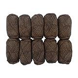 TRICOT CAFE' Oferta de ovillos de lana Super Trekking de 10 unidades Made in Italy 75% lana 25% poliamida/marrón 9512