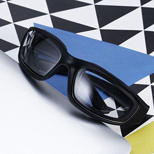 Motorradbrille Schutzbrille Fahrradbrille Radsportbrille Skibrille mit UV400 Outdoor Schutz für Damen und Herren Sonnenüberbrille Autofahren Laufen Radfahren Angeln transparent By Yxaomit - 3