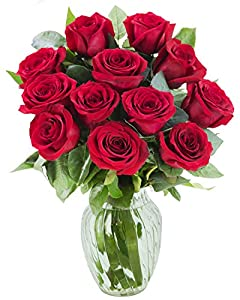KaBloom Valentine's Day Special - Cut Red Roses with Vase
