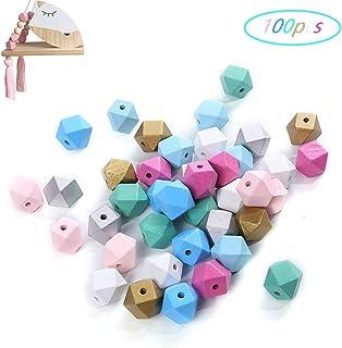 PandaHall Circa 892 Pezzi di Perline di Legno Misti Assortiti Perline distanziatori per Gioielli Artigianato Che Fanno Decorazione Domestica