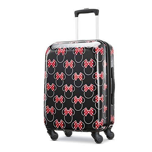 American Tourister Disney Hardside Luggage with Spinner Wheels, Minnie Mouse Head Bow, Carry-On 21-Inch