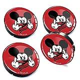 SkinoEu® 4 x 60mm Universal Tapas De Rueda De Centro Dedo Medio Mickey Mouse...