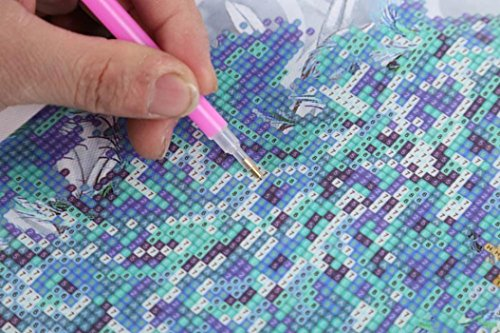 Geyou 5D Diamond Painting Kits Cat Stitch DIY Embroidery Diamond Home Decor Gift New,Cross-Stitch Stamped Kits (C)