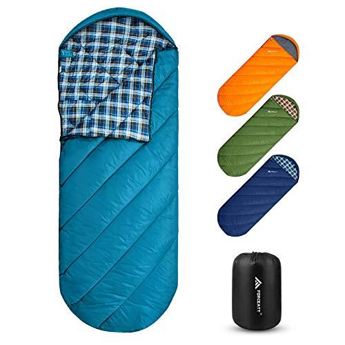 Forceatt Saco de Dormir para Acampar, Saco de Dormir para mochileros de 3 a 4 Estaciones, Ligero, Transpirable y cálido, Adecuado para Adultos, Adolescentes, niños, Senderismo al Aire Libre