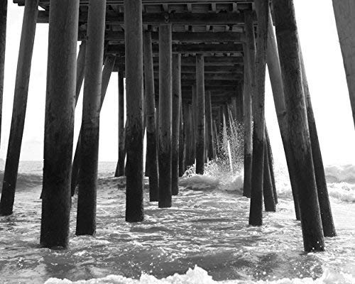 Black Translated and White Al sold out. Beach Wall Pier Decor Virgin Photography Print