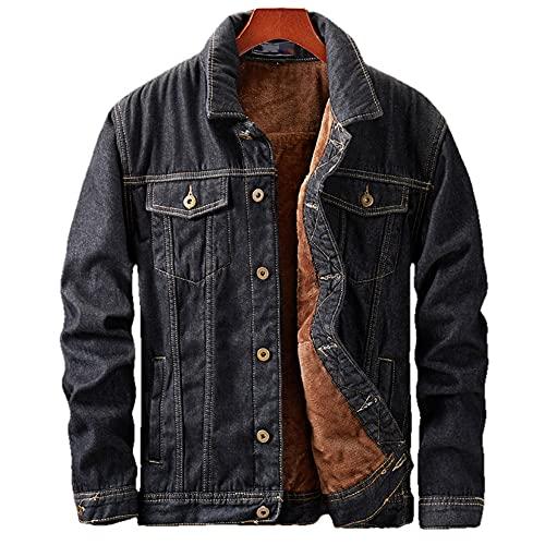 Winter Men Thick Jackets Coats Denim Jacket Mens Black Men Coat