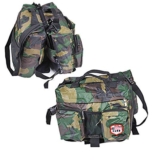 Hond rugzak grote honden backpack Outdoor fietstas zadeltas huisdier tas pak hondenharnas voor wandelen camping reizen, Large, camouflage