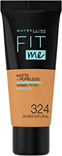 Maybelline New York New York New York Fit Me Matte and Poreless Foundation, 324 Warm Natural