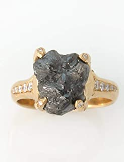 Raw Diamond Engagement Ring, Solitaire Rough Natural 5.44 CT Diamond Stone Ring Made of solid 18k Yellow, white or rose gold, Handmade Jewelry