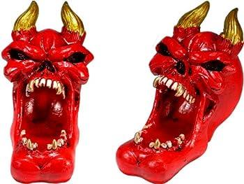 Nose Desserts Halloween Red Demon Horn Devil Vampire Replica Human Skull Skeleton Home Statue