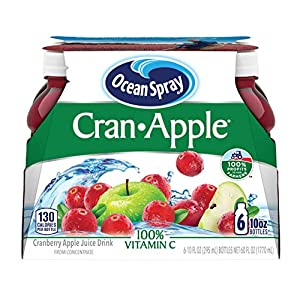 Ocean Spray Cran-Apple Juice Drink, 10 Ounce Bottle (Pack of 6) |