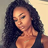 Brazilian Virgin Hair Remy Wigs Curly 20 Inch Lace Front Wigs Human Hair with Baby Hair for Black Women African Americans Wigs Pre Plucked Hairline