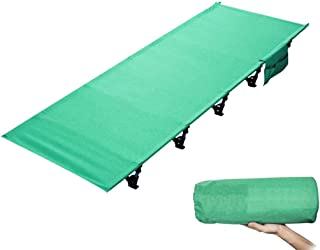 DaQingYuntur Collapsible Single Person Bed in A Bag for Indoor & Outdoor Use – Lightweight, Comfortable, Heavy Duty Design Holds Adults & Kids-Super Strong Sturdy Frame