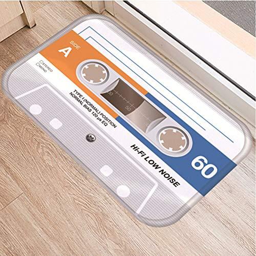 OPLJ Cinta de cassette antideslizante para el suelo, alfombra para puerta de baño, cocina, entrada, decoración del hogar, alfombra A4, 50 x 160 cm