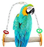 Sweet Feet and Beak Roll Swing and Perch Bird Toys - Keeps Nails and Beak in Top Condition - Handmade Pet Supplies - Safe and Non-Toxic Bird Cages Accessories - Parrot Toys (10.5' Orange L)