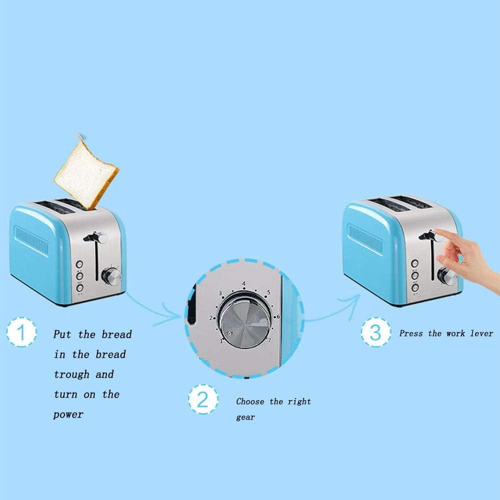 LGLE Grille-Pain Maison Multifonction Automatique Petit-déjeuner Pain grillé Machine à Pain pink