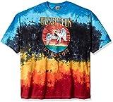 Liquid Blue Men's Plus Size Led Zeppelin Icarus 1975 Short Sleeve T-Shirt, Tie Dye/Multi, 3XL