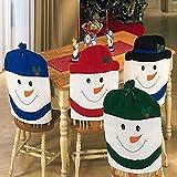 NNC クリスマス雪だるま椅子カバー キッチン ディナー席戻るホーム パーティーの装飾