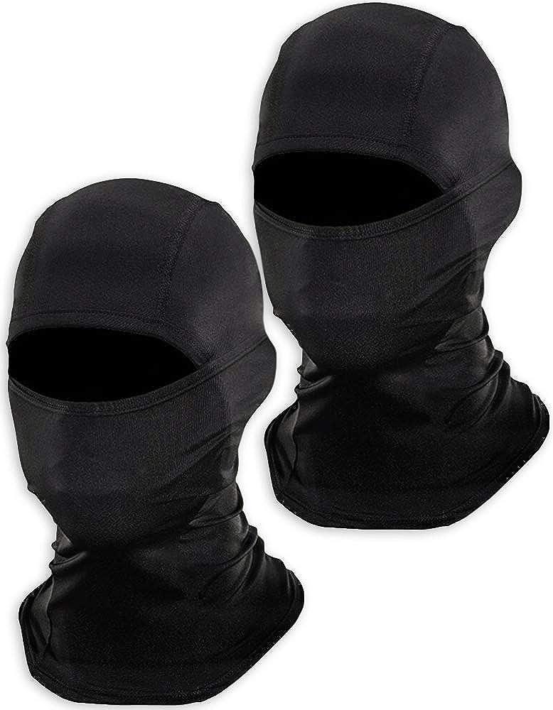 Balaclava Face Mask - Summer Balaclava for Men & Women - Full Motorcycle Ski Mask w/UV Protection - Breathable & Lightweight
