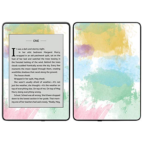 MightySkins Skin Compatible with Amazon Kindle Paperwhite 2018 (Waterproof Model) - Watercolor White   Protective, Durable, and Unique Vinyl Decal wrap Cover   Easy to Apply, Remove  Made in The USA