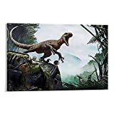 DONGH Jurassic Park Poster, dekoratives Gemälde, Leinwand,